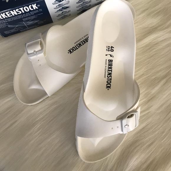 72b29146ea7 Birkenstock Madrid Eva White Slides Size 9 Sandals
